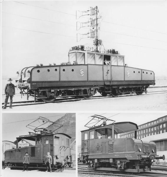 Siemens-Versuchslok vor und nach der Teilung; Foto: Archiv Ralf Roman Rossberg